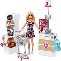 Барби в продуктовом магазине с рабочим конвейером!