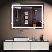 Зеркало со светодиодной подсветкой настенное 100*80 см d-4 Basic
