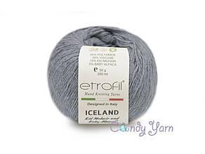 Etrofil Iceland Kid Mohair, Серый №1031