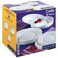 Столовый сервиз Luminarc CADIX на 6 персон 18 предметов   Франция ,Оригинал!