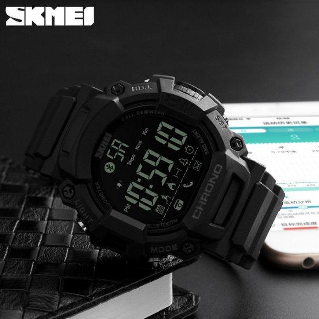 Skmei 1249 черные мужские спортивные смарт часы