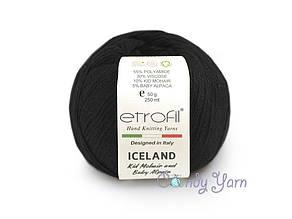 Etrofil Iceland Kid Mohair, Черный №1032