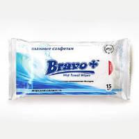 Bravo влажные салфетки 15 шт морская свежесть