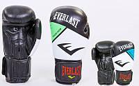 Перчатки боксерские на липучке Elast 6748: 10-12 унций, кожа (2 цвета)