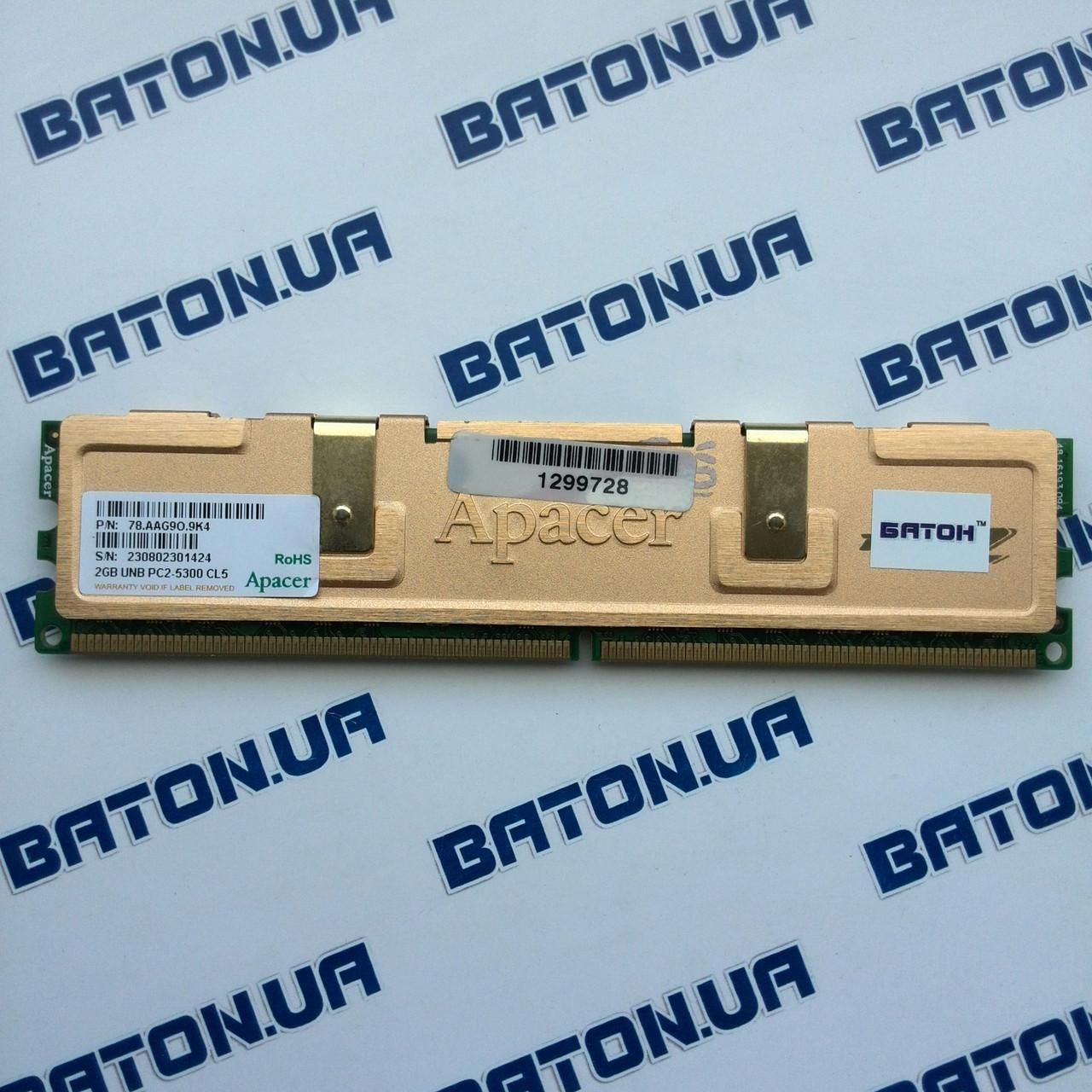 Игровая оперативная память Apacer DDR2 2Gb 667MHz PC2 5300U CL5 (78.AAG9O.9K4)