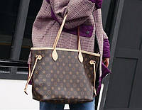 LOUIS VUITTON Neverfull реплика сумка коричневая