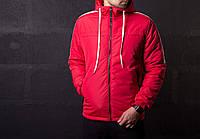 Мужская теплая куртка красная, фото 1