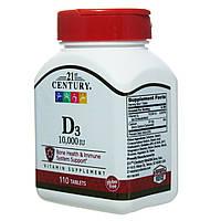 21st Century, Витамин D3 сильное действие, 1000 mcg, 110 таблеток