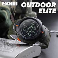 Skmei 1231 зеленые мужские спортивные часы с компасом, фото 1