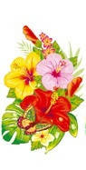 Салфетка Luxy мал тропические цветы