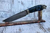 """Нож ручной работы """"Клык"""" из дамасской стали"""