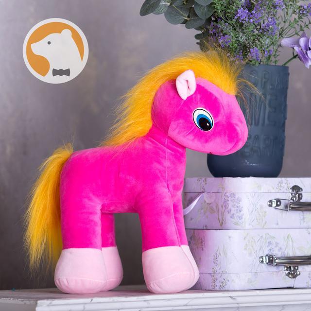 Мягкая игрушка розовый Пони