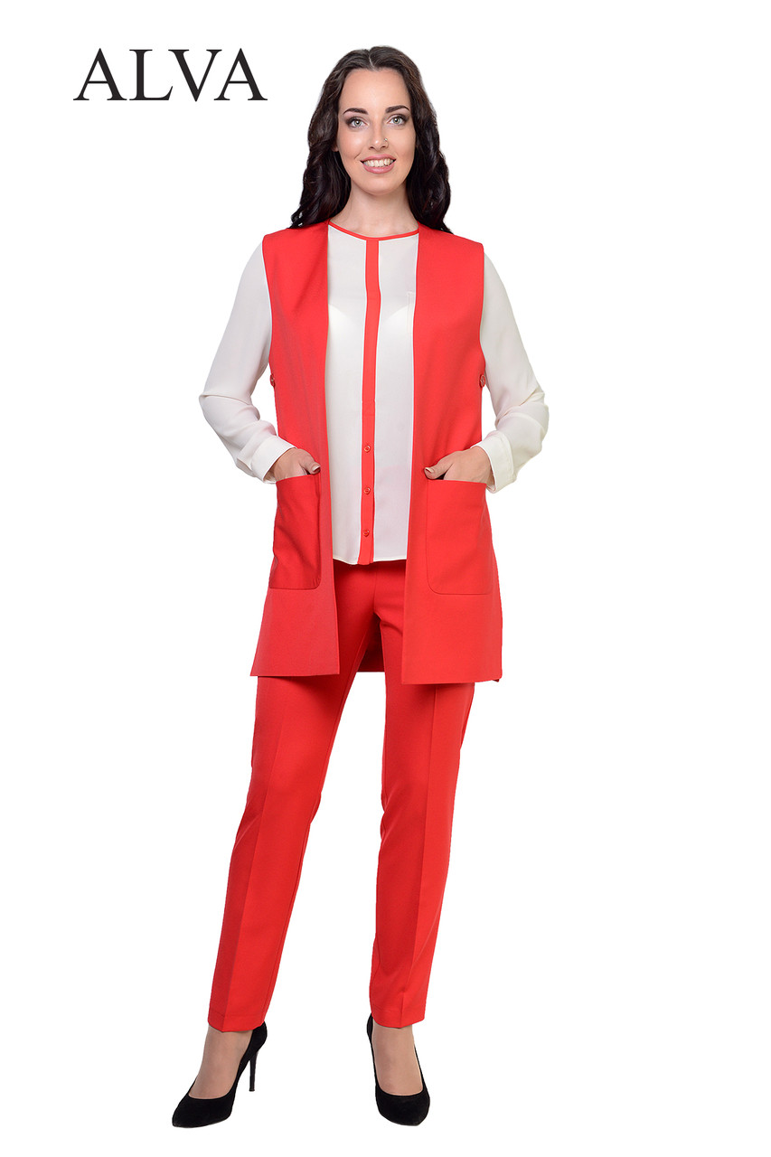 Женский деловой комплект (брюки+жакет) 46-52