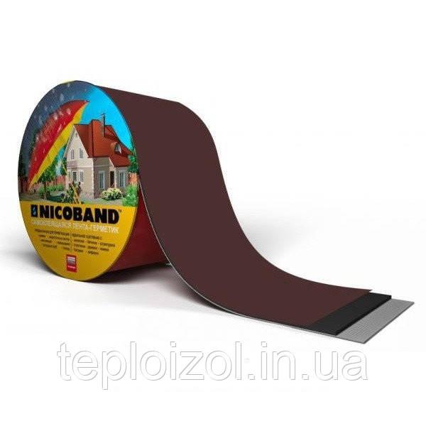 Лента самоклеющаяся NICOBAND 5см*3м коричневая