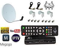 Комплект спутникового телевидения - базовый (1 ТВ на 3 спутника)