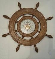 Барометр с термометром Утес БНТ «Штурвал» (Дуб)