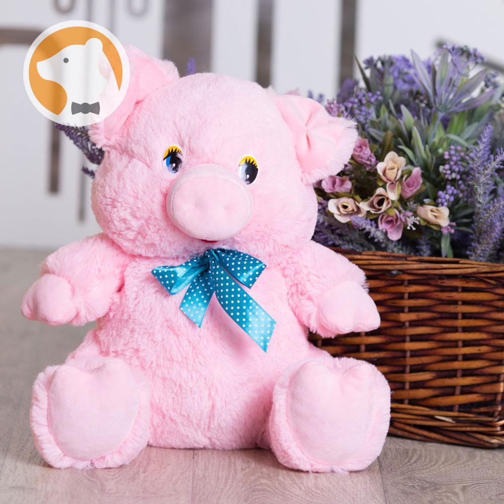 Мягкая игрушка Свинка, 37 см