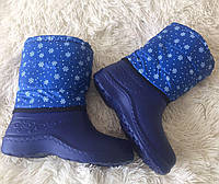 Дутики женские голубые с затяжкой , фото 1