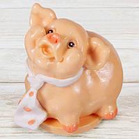 """Шоколадная фигура """"Свинка Мальчик"""" (бежевый) КЛАССИЧЕСКОЕ сырье. Размер:115х95х125мм, вес 680г, фото 1"""
