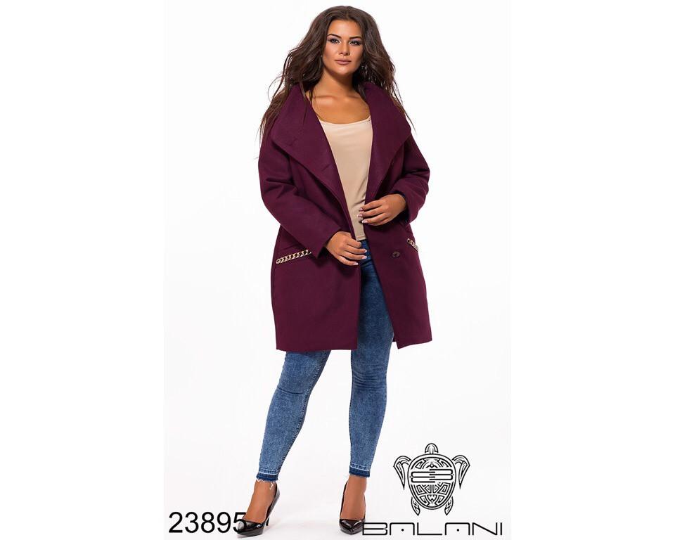 Пальто женское #195-6 Р.р 52