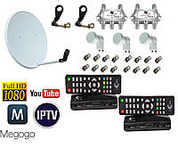 Комплект спутникового телевидения - базовый-2 (2 ТВ на 3 спутника)