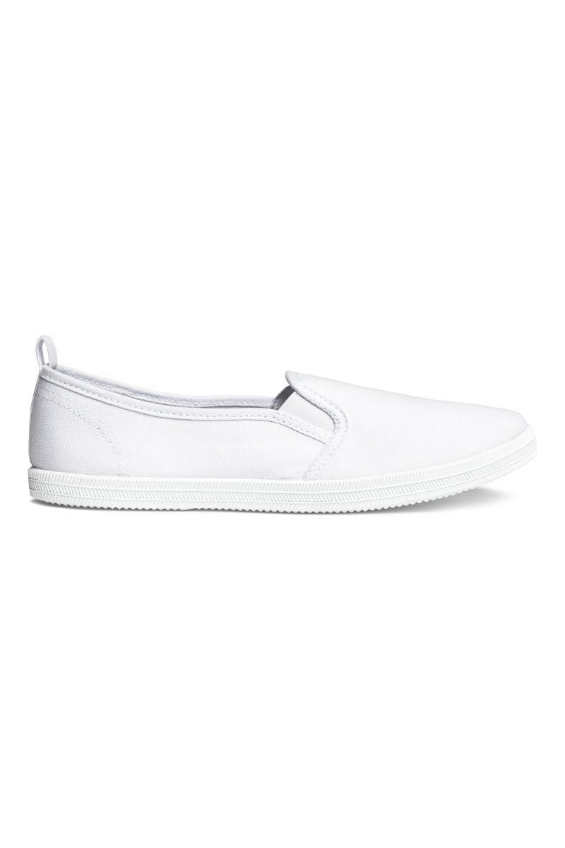 Легкие стильные белые мокасины H&M  (Англия) (Размер 39)