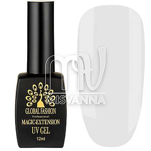 Гель для наращивания Magic-Extension UV Gel Global Fashion, 12 мл №01 прозрачный
