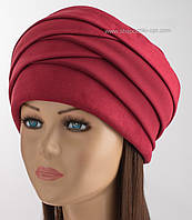 Зимняя женская шапка Парижанка красного цвета