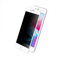 Защитные стекла Full Cover PRIVACY глянец iPhone 7+/8+ - Белый