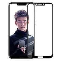3D Full Glue защитное стекло для Huawei Honor Play Черное (клеится вся поверхность)