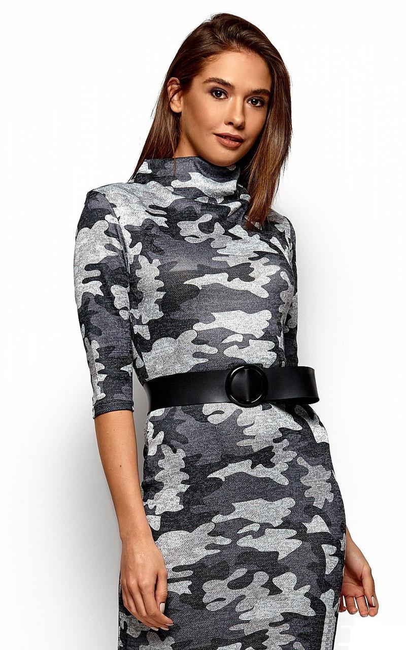 (S, M, L) Стильне сіре коротке плаття Edra