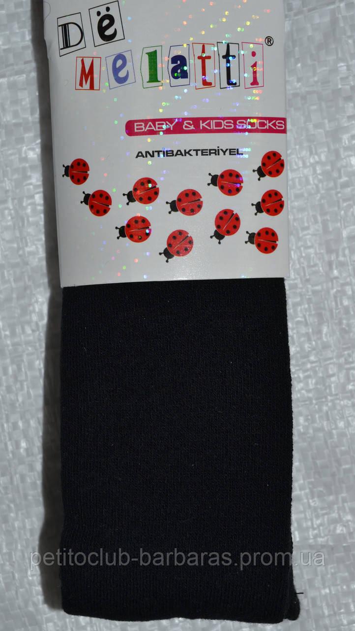 Детские колготы однотонные черные (DeMelatti, Турция)