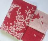 Полотенце махровое 67*150 ВЕТКА САКУРЫ розовый 100% хлопка (шт.)