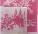 Полотенце махровое 50*90 ВЕТКА САКУРЫ розовая 100% хлопка (шт.)