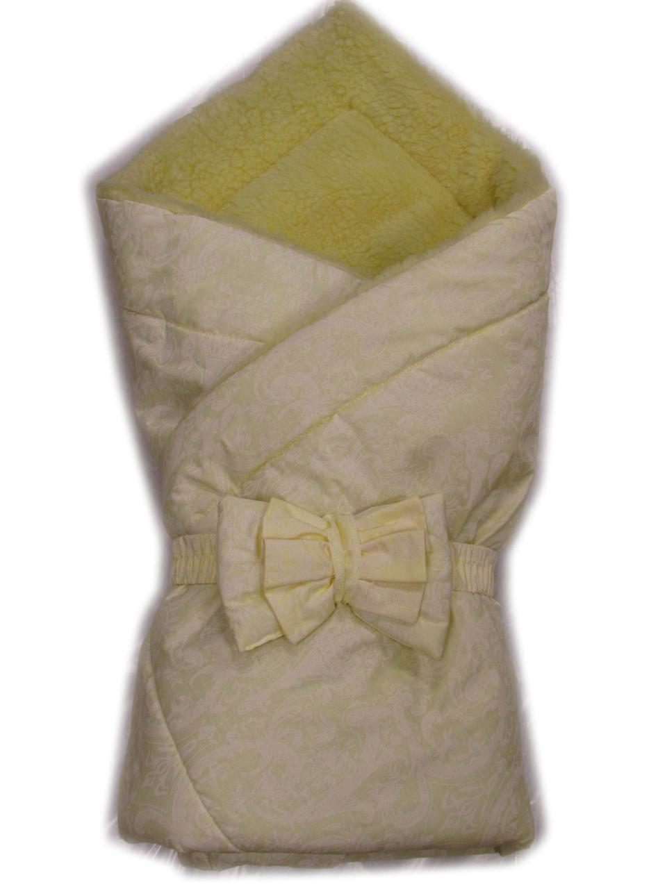 Акция! Акция! Конверт одеяло на выписку Baby Жакард цветочки зима.