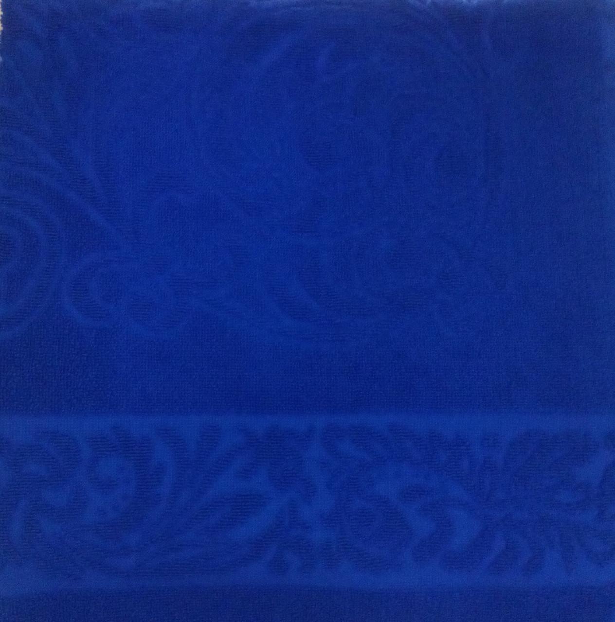 Полотенце махровое 67*150 ЖУРАВИНКА синий 100% хлопка,  (шт.)