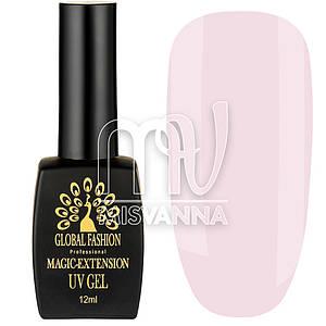 Гель для наращивания Magic-Extension UV Gel Global Fashion, 12 мл №03 нежный розовый