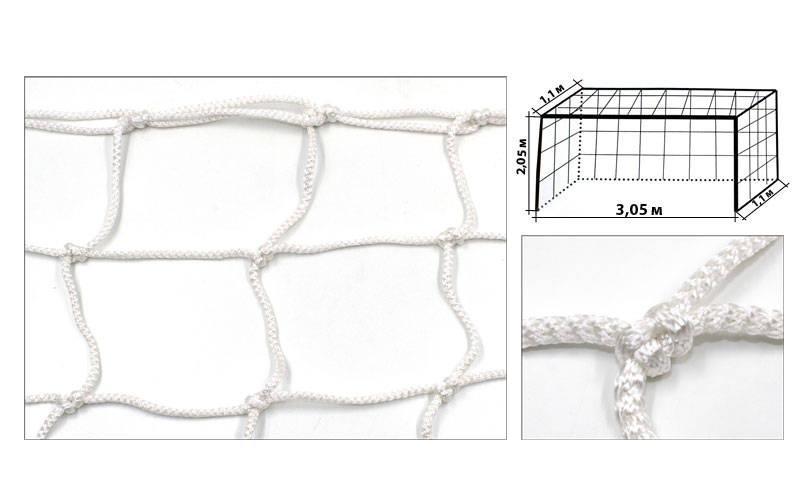 Сітка на ворота футзальні, гандбольні професіональна (2шт) Еліт1.1 UR SO-5289