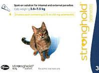 Стронгхолд (Stronghold) для котов (2,5-7,5 кг) 1 пипетка 0,75 мл (Zoetis,США)