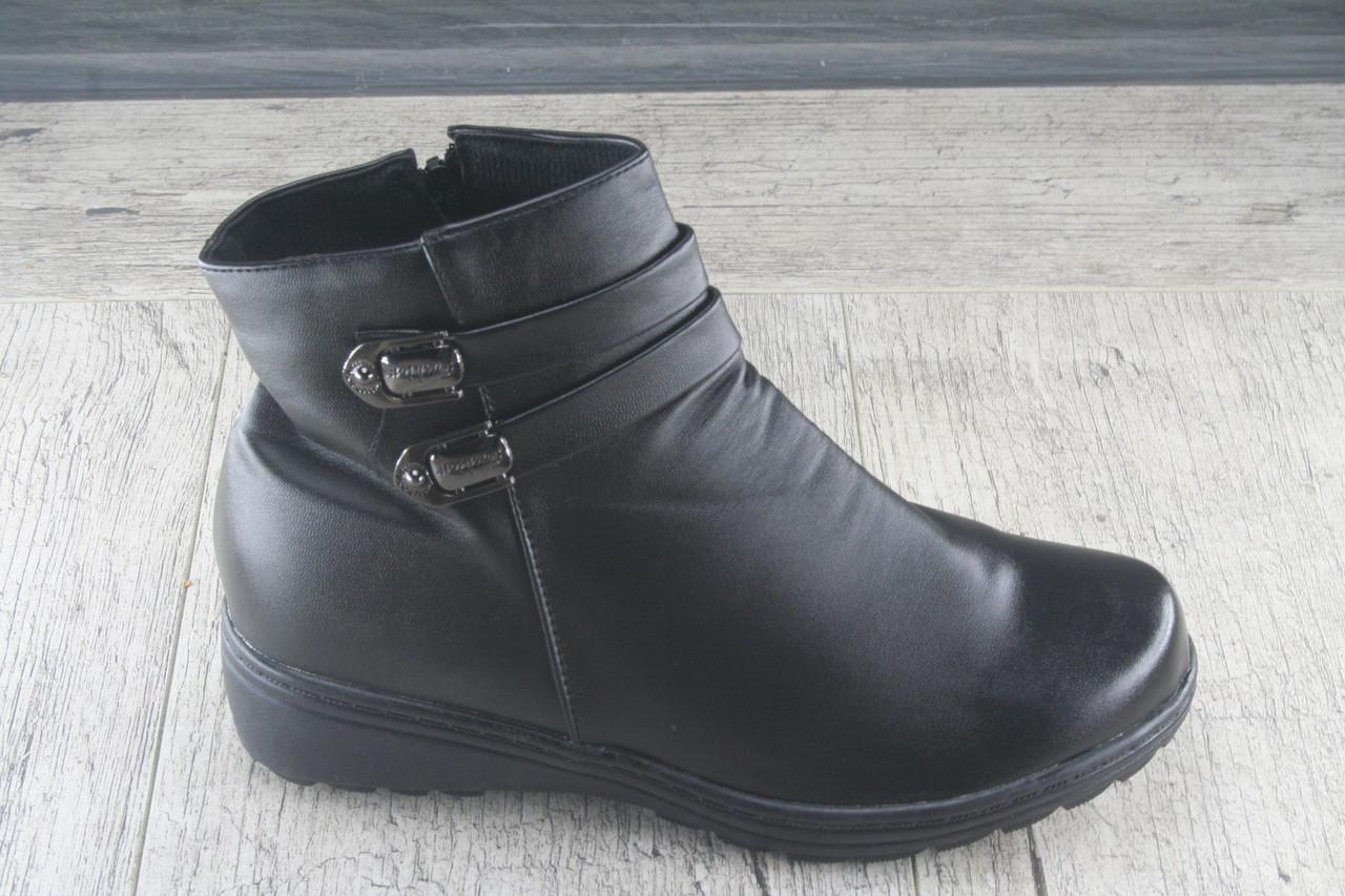 Ботинки, полуботинки женские зимние из эко кожи, обувь повседневная, недорогая