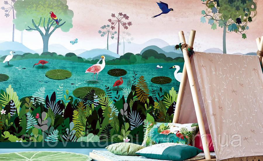 Панно в детскую флизелиновое Dusky Amazon Picturebook Villa Nova