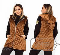 Куртка из велюра-стежка. Большие размеры, батал. Разные цвета.