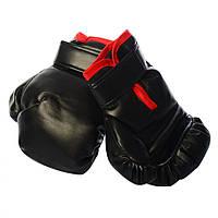 Детские Боксерские перчатки MS1649Black, 2 шт, 1 размер, 19 см, в кульке (Черный), фото 1