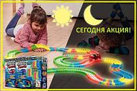 Светящаяся дорога Magic Tracks 360 деталей Меджик трек 2 машинки джип внедорожник