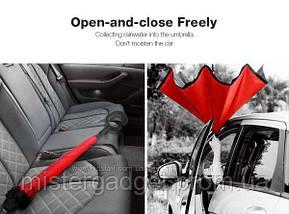 Зонт ветрозащитный Up-Brella Violet зонт обратного сложения, фото 2