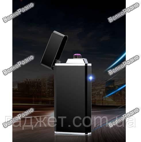USB зажигалка черного цвета. Электронная USB зажигалка