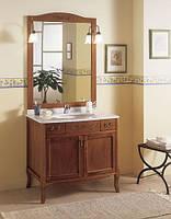 Итальянская мебель для ванной в ретро стиле 90 см Орех Gallo Wood VIOLA 90-S