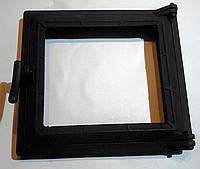 Дверца для печи и барбекю 290*330 мм, дверца печная со стеклом
