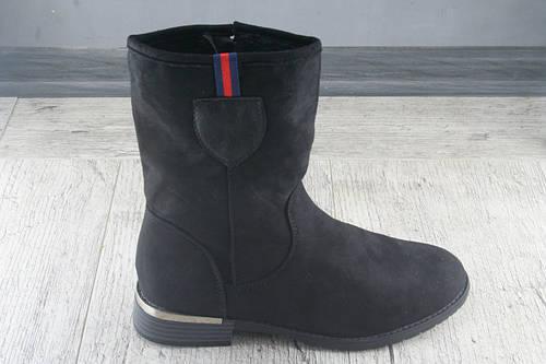 Ботинки, полусапожкиженские демисезонные из эко замши, обувь повседневная, недорогая