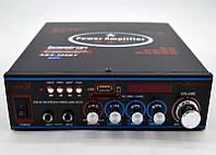 Усилитель мощности звука AMP 308 BT, Стерео усилитель, Усилитель мощности звука с блютуз и FM тюнером